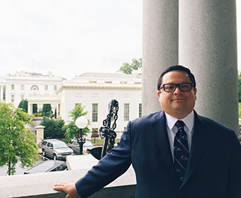 Adrian Saenz '97 is an aide to President Obama