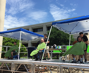 First annual St. Baldrick's Day event held UTSA Main Campus.