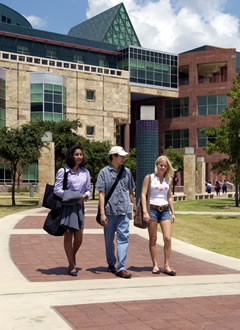 students walk at Downtown Campus