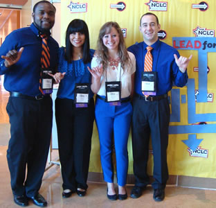 UTSA students at conference