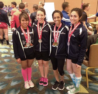 UTSA women's powerlifting team
