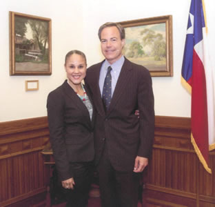 Valerie Sullivan and Joe Straus